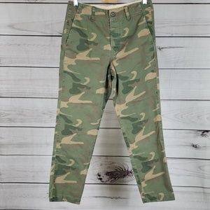J.Crew• 24 pants camo chino flat front ankle